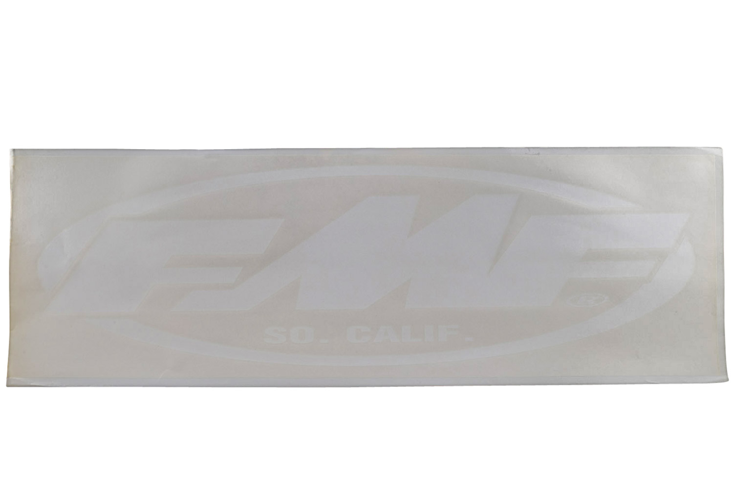 "FMF 10"" X 33"" OVAL DIE CUT STKR (WHITE) (011295)"